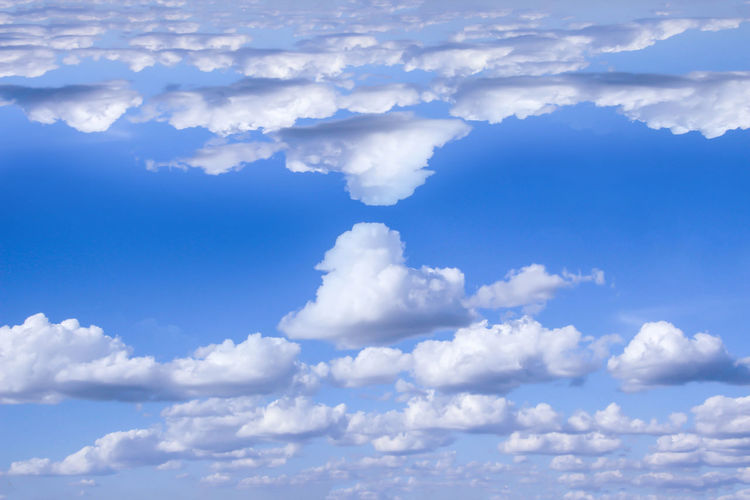 Backgrounds Beauty In Nature Blue Cloud - Sky Cloudscape Day Full Frame Low Angle View Nature No People Outdoors Scenics Sky Sky Only Tranquil Scene Tranquility White Color