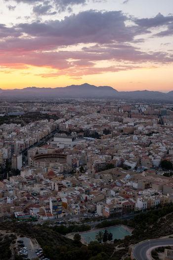 Architecture Built Structure City Cityscape Cloud - Sky High Angle View Orange Color Sky Sunset TOWNSCAPE