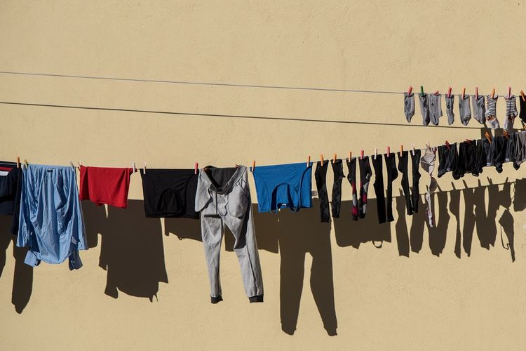 Clothes in the wall