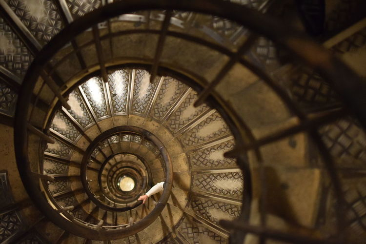 follow the infinity! Infinity Architecture Steps And Staircases Spiral Built Structure Staircase Spiral Staircase Railing Indoors  High Angle View Design History Geometric Shape