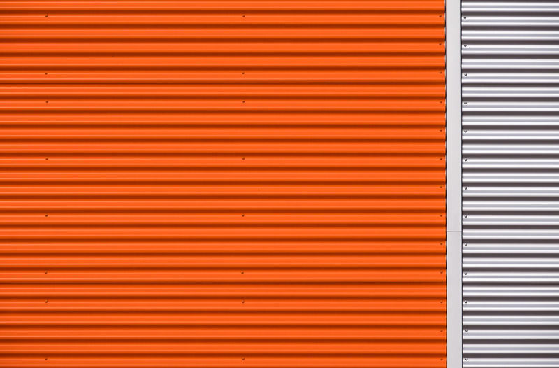 Orangething Minimalist Pattern, Texture, Shape And Form Architecture Backgrounds Berlinmalism Building Exterior Built Structure Corrugated Fujix_berlin Fujixe3 Full Frame Metal Minimal Minimalism No People Orange Color Pattern Protection Ralfpollack_fotografie Repetition Silver Colored Striped Textured  Wall - Building Feature