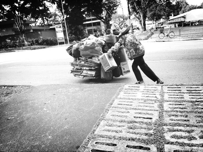 Burden Eyeem Philippines Black And White Photography Street Photography Full Length Street Real People Walking Outdoors Road Casual Clothing Day Tree Lifestyles Women Nature City Adult People