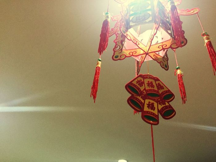 Chinese Decoration Chinese Lantern Art And Craft Hanging Decoration Creativity Craft No People Indoors  Wall - Building Feature Representation Red Celebration Close-up Design Animal Representation Dreamcatcher Religious Equipment Holiday Religion Ceiling