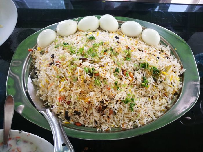 biriyani Mobilephotography Huwaei Photography HuaweiP9 Huawei P9 Leica Biriyani Biriyanilove Food Food And Drink Foodie City Minced Fried Rice Egg Yolk Bowl Plate Preparation  Close-up Food And Drink
