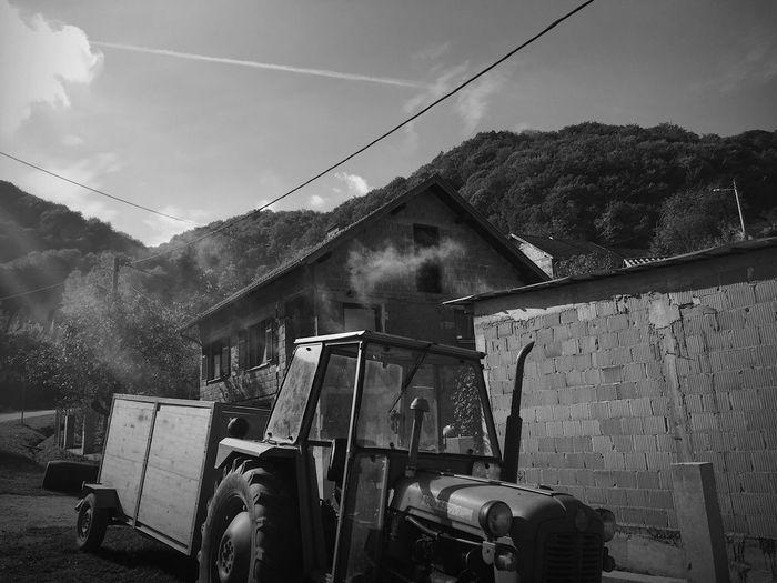 Hrastovica, Petrinja, Croatia, 2017. Hrastovica Petrinja Croatia Documentary Tractor Machinery Sky Outdoors Transportation Built Structure Architecture Mountain