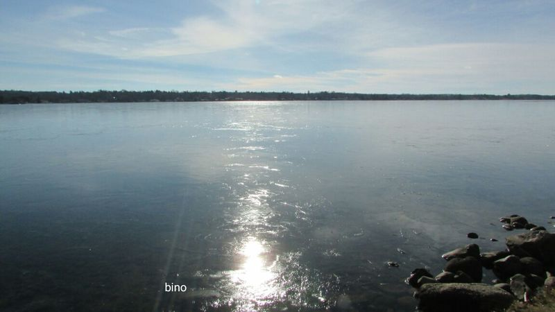Sunny And Cold Day Around The Lake Beautiful Blue Frozen Lake Beauty In Nature No People Landscape Lake Cadillac Pure Michigan