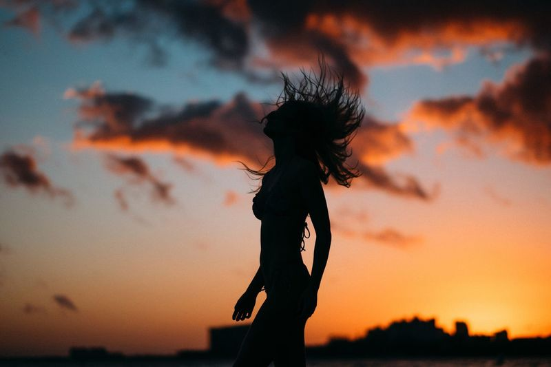 Sunset feels Miami Sunset Sunset_collection Sunset Silhouettes Silhouette Sky Clouds Colorful EyeEm EyeEm Best Shots EyeEm Nature Lover EyeEm Gallery EyeEmBestPics EyeEm Selects A New Beginning