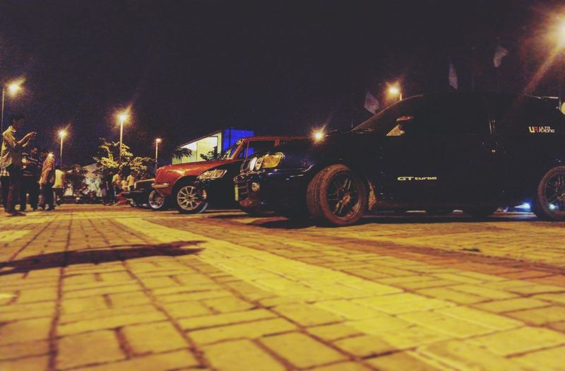 Night Illuminated Outdoors CarShow StarletGT Carmeets