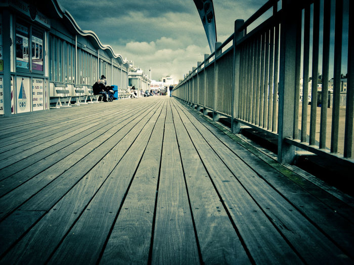 Brighton Brighton Pier Britain Connection Diminishing Perspective Engineering Holiday Town Lines Long Perspective Pier Railing The Way Forward