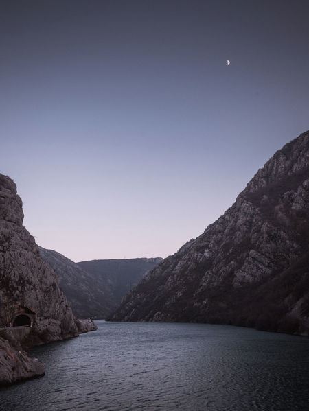 Canyon of Neretva river at evening Beauty In Nature Bosnia And Herzegovina Calm Canyon Dusk Empty Evening Geology Landscape Moon Mountain Neretva Night No People Nobody Outdoors River Riverside Scenic Scenics Sky Travel View Water