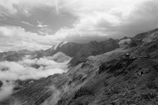Passo Stelvio Mountain Ortler Cloud - Sky Nature Mountain Range Outdoors Sky Nature Mountain View Above The Clouds Above Clouds Abovetheclouds  Blackandwhite The Week On EyeEm Kleinbildfilm No People Nikon F3 Film Photography Analog Photography Analogue Photography