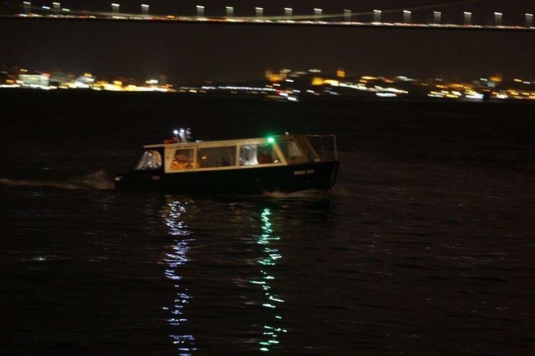 Night In Istanbul Night Lights Night Photography Boats Sea And Sky Sea Vessels Taking Photos Sea View Sea Life Bosphorus Bridge Bosphorus
