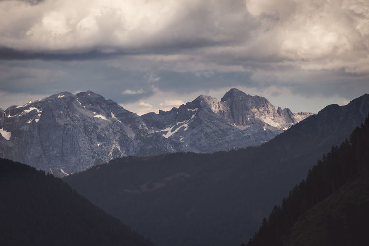 Glimpse of the imposing dolomites of val di sole