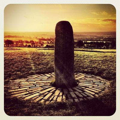 Another view of The Lia Fáil - Stone of Destiny ? #hill_of_tara #ireland #jj_forum #jj #beautiful_ireland #earlybirdlove #photooftheday #sunset #stone #monument #mythology Sunset Stone Ireland Photooftheday Monument Mythology Jj  Earlybirdlove Jj_forum Hill_of_tara Beautiful_ireland
