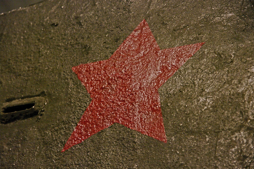 Close up on the red star on a T-34 tank from WWII. Close-up Day Nature No People Old Outdoors Red Red Star, Russian Tank Star Steel T-34 Tank WWII