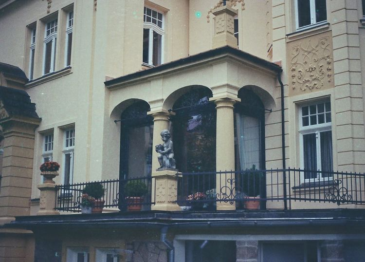 35mm Architecture Balcony Built Structure Canon AE-1 City Film Filmisnotdead History Ishootfilm Liberec No People Outdoors Sculpture Window
