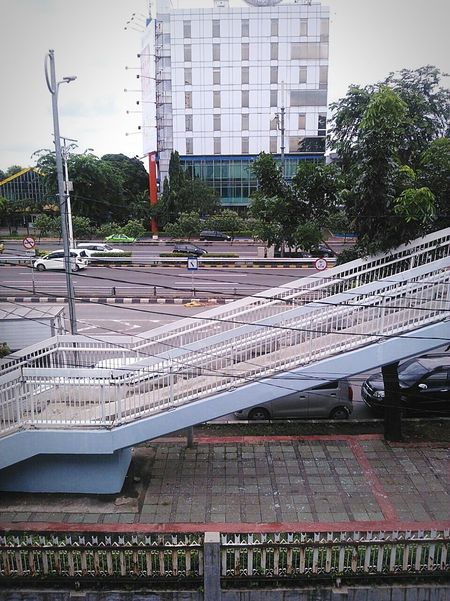 City No People Built Structure Outdoors Day Architecture Stadium Sky Phonography  Trees PhonePhotography EyeEmNewHere Hello World Fresh On Eyeem  Check This Out EyeEm Gallery INDONESIA Jakarta Road Bridge - Man Made Structure Bridge Car Adapted To The City