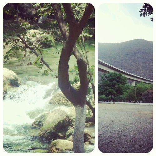 Yesterday Ayer en el Hermoso rio de ayutla.