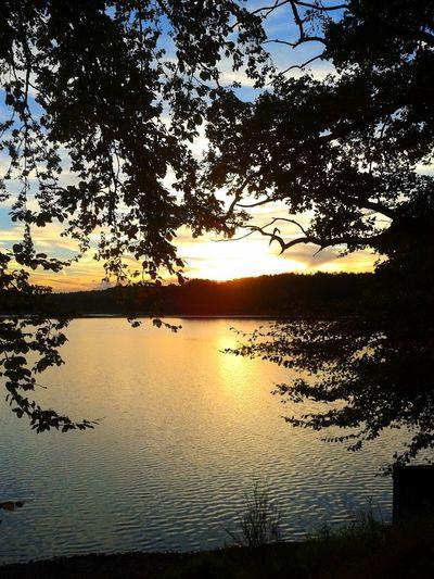 Landscape Lake View Sunset
