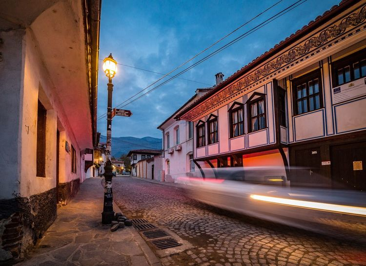 Karlovo in long exposure👌🏻👌🏻👌🏻 Transportation Karlovo Bulgaria Architecture Mode Of Transport Built Structure Building Exterior Outdoors Public Transportation Railroad Track Street Light City No People Long Exposure Blue Sky Wide Angle Amazing View Traditional Culture Traditional Houses Balkans Balkans Europe Travel Destinations Travel Explore