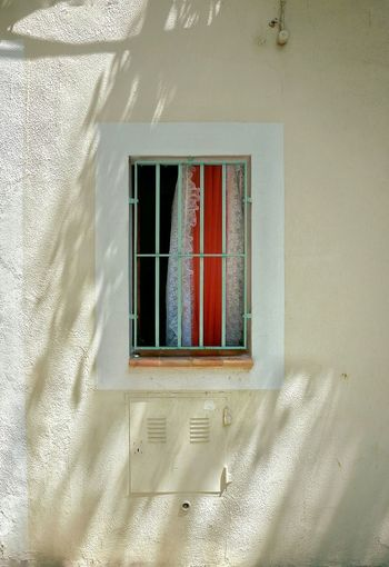 Window Barred Window Curtains Can Be Beautiful Sunny Day Shadows & Lights No People Outdoor Photography Detail Of Facade Simple Things Simplicity Is Beauty. Spain Is Different Mallorcastyle