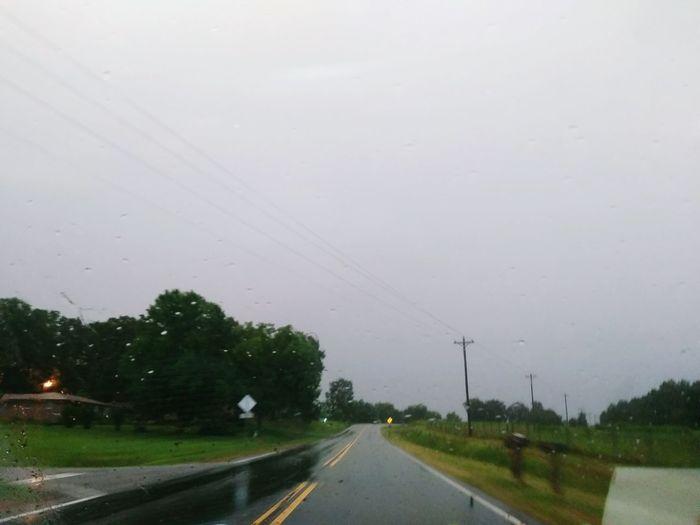 Road Wet Storm Outdoors Day Sky EyeEmNewHere Rain☔