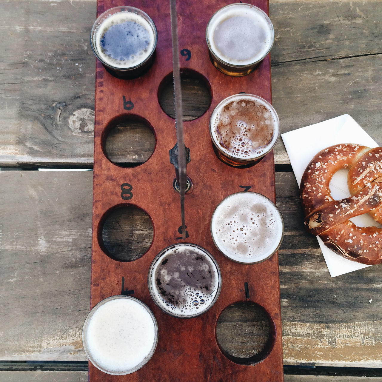 Beers On Wooden Tray