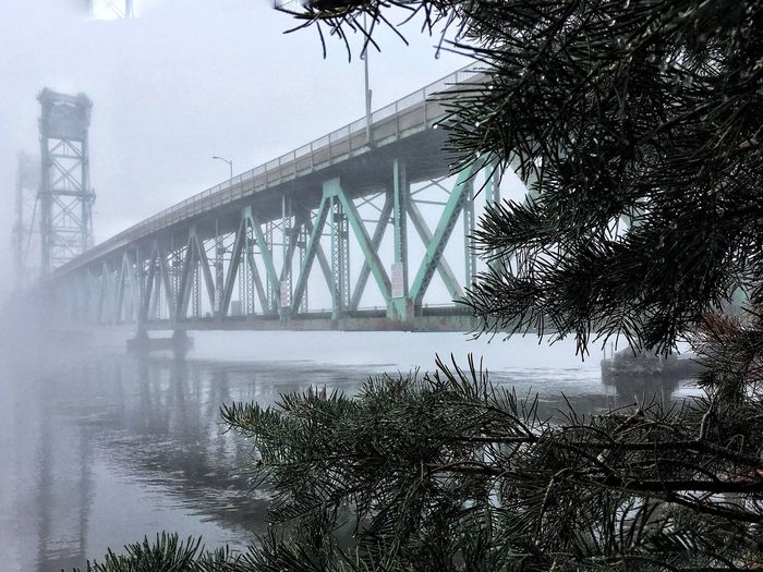 Bridge - Man Made Structure Built Structure Fog Foggy Morning Foggy Weather Maine