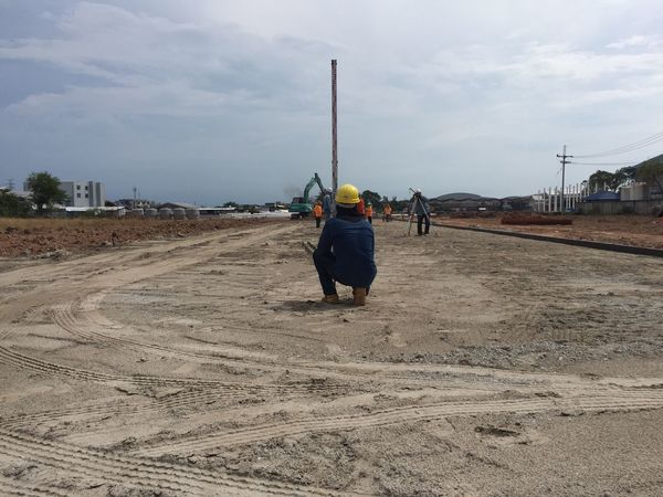 Construction Site Real People Sky Lifestyles Men Rear View Cloud - Sky Walking Leisure Activity Full Length Domestic Animals One Person Outdoors Day Nature Mammal