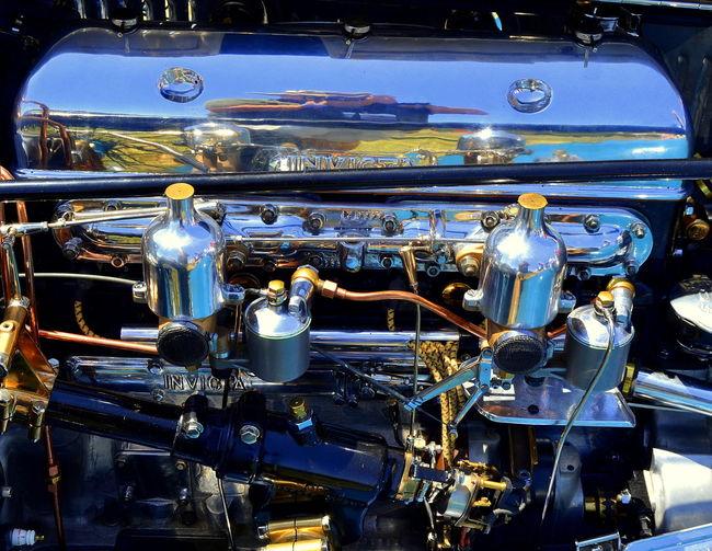 Engine of vintage car