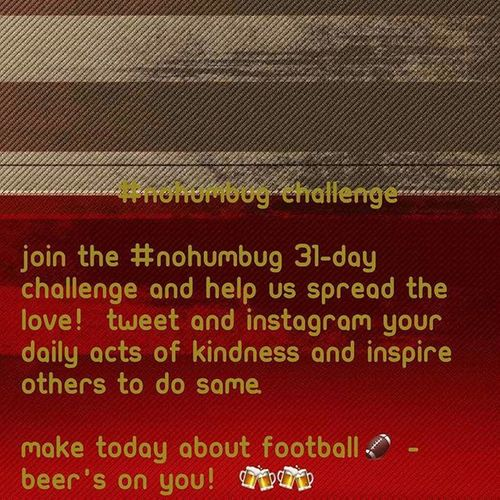 31 Day NoHumbug Challenge Day 9. NFL Sanfrancisco 49ers Niners SanFrancisco49ers SF Sf49ers Countdown Until CHRISTMAS!!!: 16 DAYS 🎆🎅🎄🎁🎉🎊🎈❄⛄