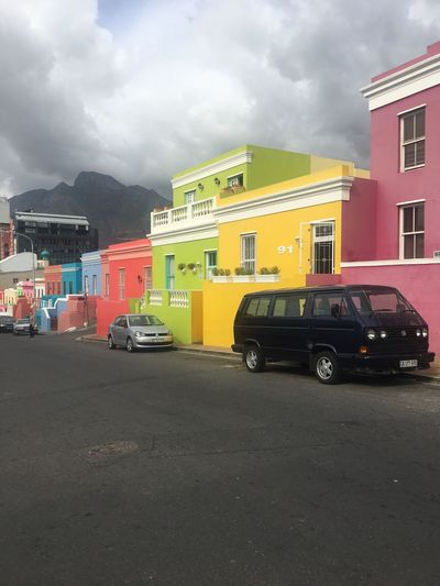 Land Vehicle Transportation Mode Of Transport Built Structure Building Exterior Sky Cloud - Sky Architecture Car Day Stationary Outdoors No People Colour Bo-kaap Cape Town The Photojournalist - 2017 EyeEm Awards