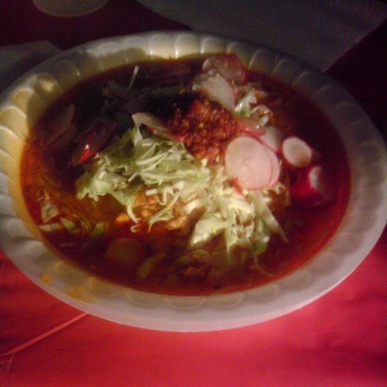 It's a good night when you eat pozole :) Pozole @peaceloveramos @mmadridtpa @fattieelove @steff_karol21 @ohhcarlosss