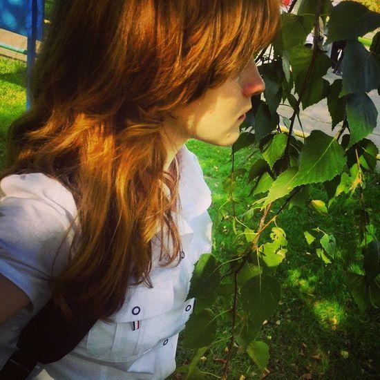 Очень русское селфи отрадное Москва Россия себяшка свао осень рыжий зеленый moscow russia orange moscow green girl svao autumn