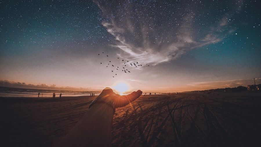 Parangtritis Beach Wonderful Yogyakarta Wonderful Indonesia INDONESIA Beach Sky Nature Star - Space Astronomy Night Environment Land Beauty In Nature Landscape Outdoors Galaxy