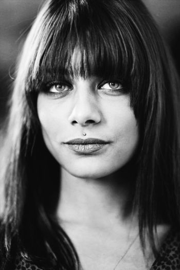 Portrait Blackandwhite Black And White Black & White Shadows & Lights Hairstyle Portrait Headshot One Person Long Hair Looking At Camera Young Women Beautiful Woman Beauty Close-up Women Hair Focus On Foreground My Best Photo
