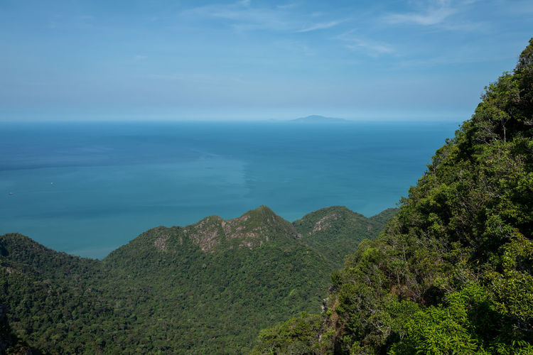 Langkawi Scenics - Nature Beauty In Nature Tranquil Scene Tranquility Tree Sky Plant Water Sea Nature Mountain Idyllic Non-urban Scene Day No People Land Cloud - Sky Green Color Growth Outdoors