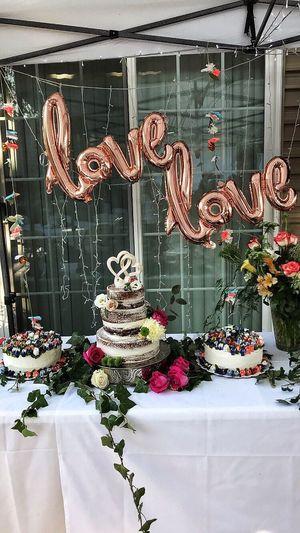 Love Baloons Cake Wedding
