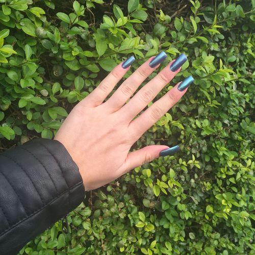 8.09.15 Nails Mermaid Leather Jacket New Nails