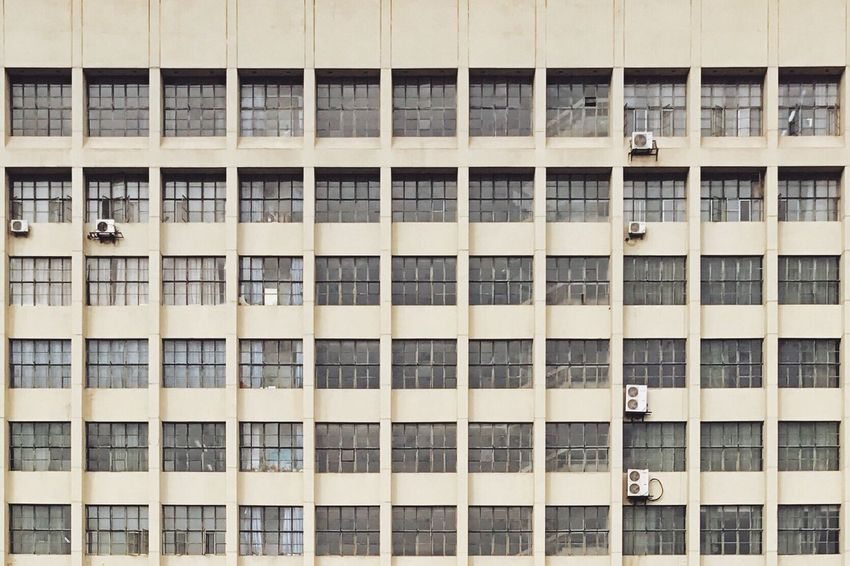 Building Exterior Architecture Window Built Structure Full Frame No People Repetition Outdoors Day Low Angle View Balcony Backgrounds Air Conditioner