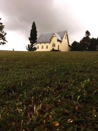Landscape, house, field