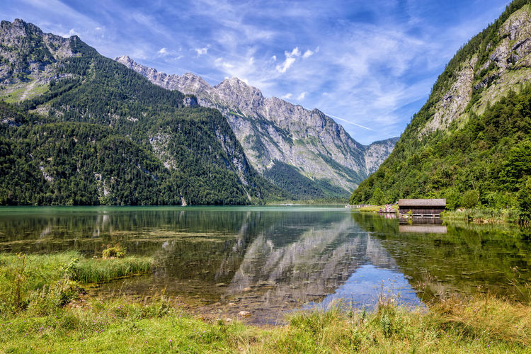 Scenic view of konigssee against bavarian alps