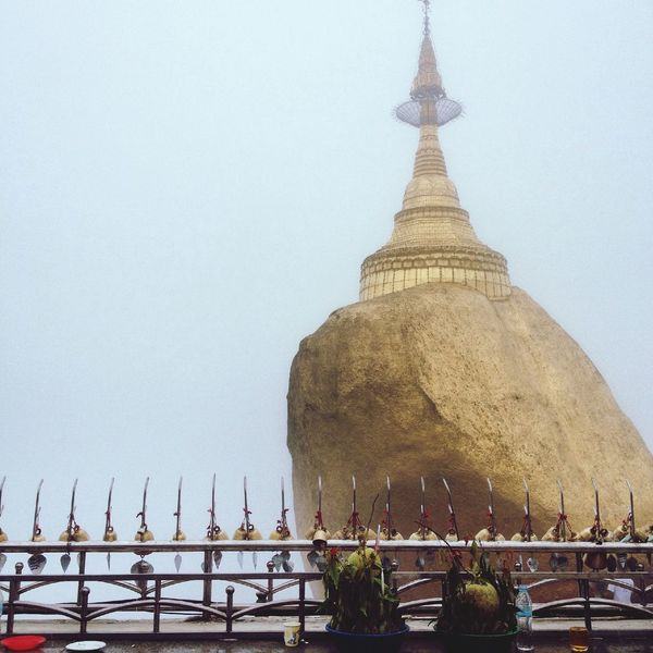 Kyaiktiyo Pagoda Pagoda Myanmar Goldenrock