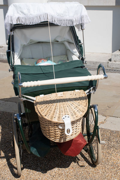 Vintage Pram Classic Mode Of Transportation No People Old Perambulator Pram Stationary Transportation Travel Vintage