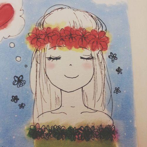 Lady Flowers Pretty Art
