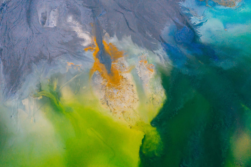 Drone view of contaminated, toxic water stream in Geamana, Romania Residual Waste Abstract Backgrounds Colorful Toxic Water Waste Pollution Green Color Yellow Orange Color Textured  Drone  Dronephotography Droneshot Aerial View Aerial Photography Polluted Water Landscape Nature Minimal Dead Valley Lake Disaster Beautiful Ecological Ecosystem  Romania Impact Mine Copper Mine Waterscape Lakeside Hazardous Danger Village Underwater Village
