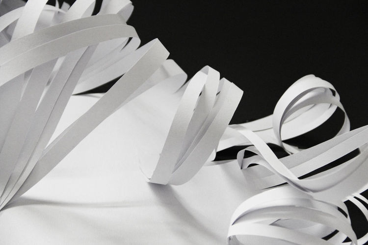 White Color Paper Art Paper Art Striped Stripes Blackandwhite Black And White Black & White Black Background White Paper No People Close-up Detail Abstract