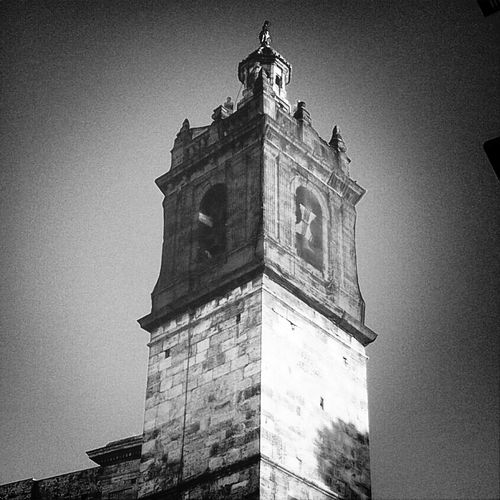 Church Black And White Campanar  Bells Tower
