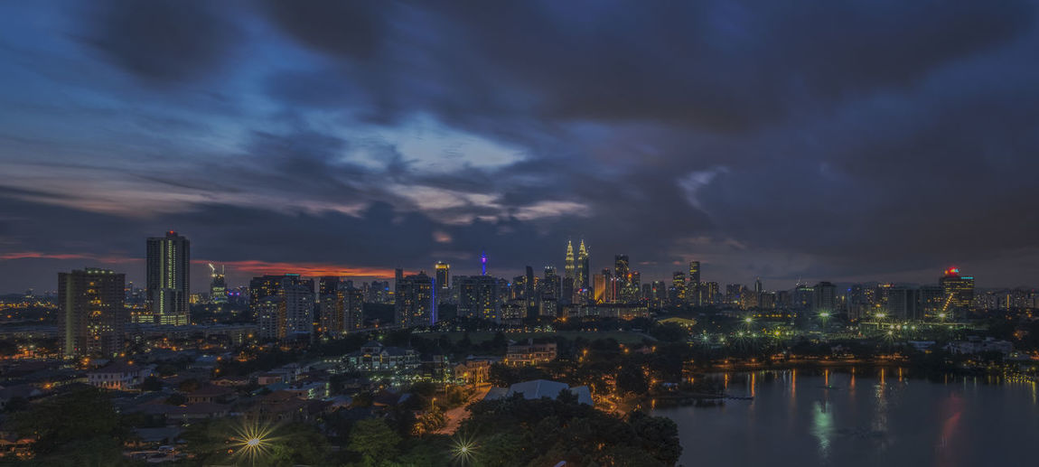 Blue hour in