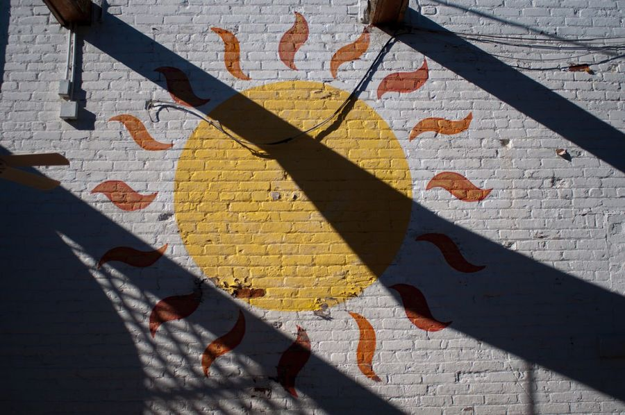 Day Star Detroit Sun The Old Miami Wall Art Brick Brick Wall Mural Outdoor Mural Outdoor Painting